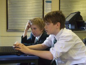 Pupils composing at Fallibroome Academy