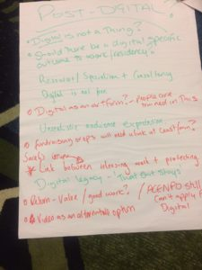 Notes from New Voices networking day